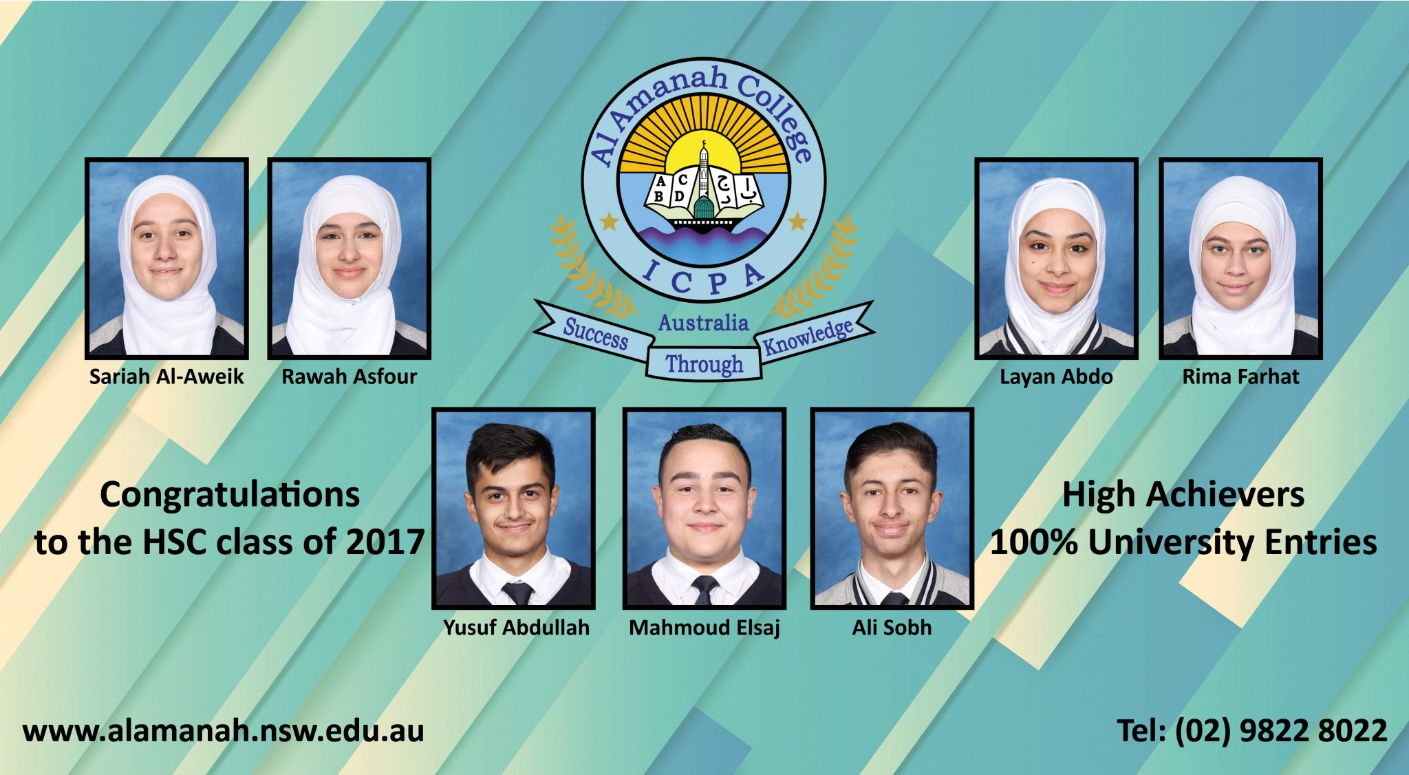 HSC Class of 2017 – Outstanding Results