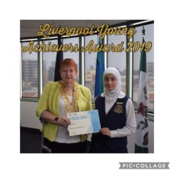 Liverpool Young Achievers 2019 – Al Amanah College recipient – Danna Rajab